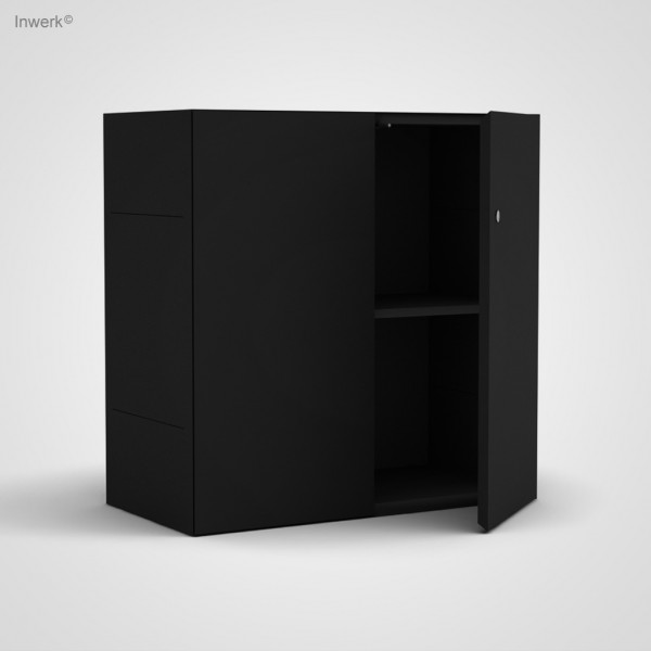 Ausstellungsstück Masterbox® mit Tür und Schloss 80x40x80 Schwarz