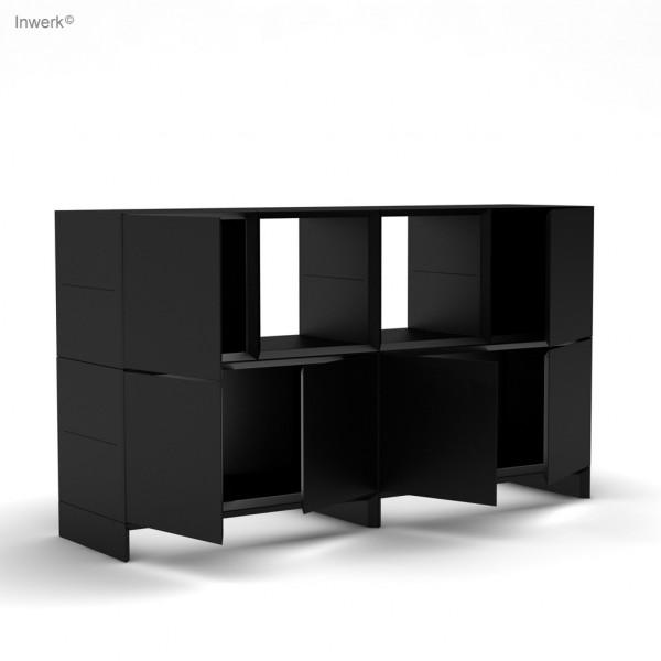 Masterbox® Sideboard mit Türen und offenen Boxen