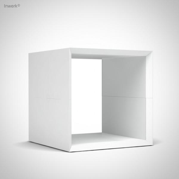 Ausstellungsstück mit leichten Gebrauchsspuren Masterbox ® offene Box B 400 x H 400, weiß