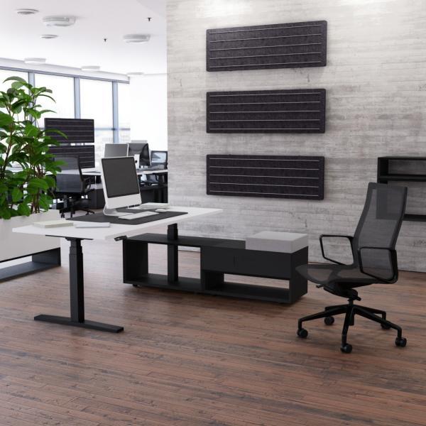 Schreibtisch höhenverstellbar Imperio® Lift Plus mit 800mm Sideboard Schubfach