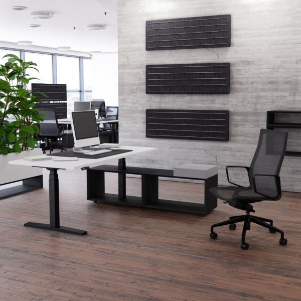 Schreibtisch höhenverstellbar Imperio® Lift Plus mit Sideboard