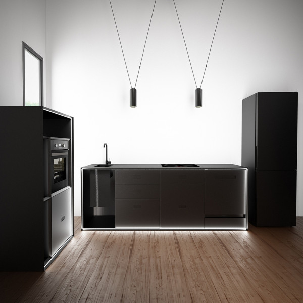 Masterbox® Küchenzeile mit hohem Block