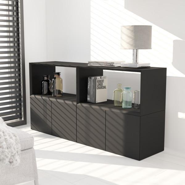 Inwerk Masterbox ® Sideboard mit Türen und offener Box